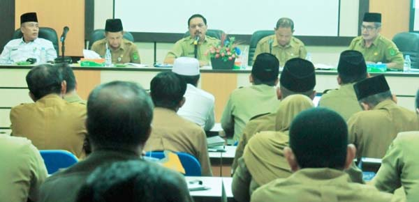 *Sekda Inhil Pimpin Rapat Persiapan MTQ Kabupaten Ke 47*