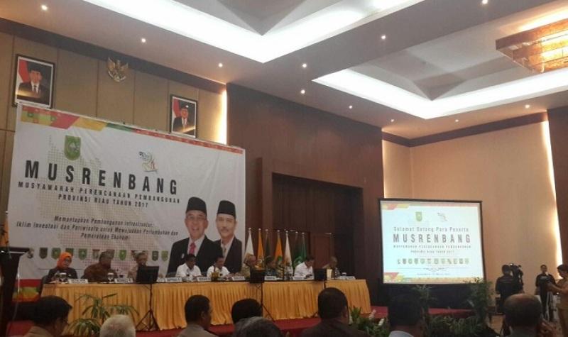 Bupati Mursini  Hadiri Musrenbang Provinsi Riau