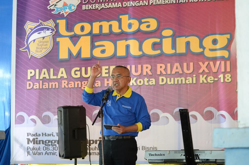 Gubri Buka Lomba Mancing piala Gubernur Riau XVII di Dumai