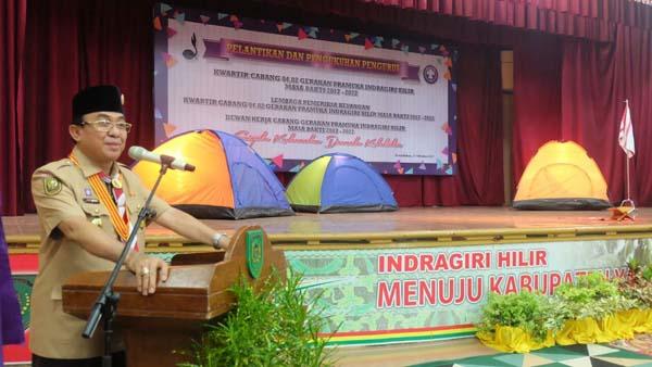 Kamabicab Inginkan Gerakan Pramuka Inhil Jadi Yang Tergiat Se - Riau