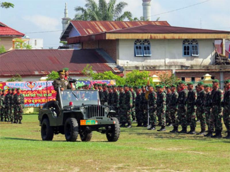 Dandim 0313/Kpr Pimpin Upacara Peringatan HUT TNI Ke 72