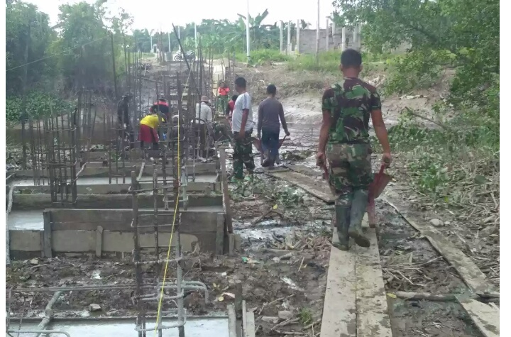 TMMD ke 101 Kodim 0314/Inhil Perkuat Hubungan TNI dan Rakyat