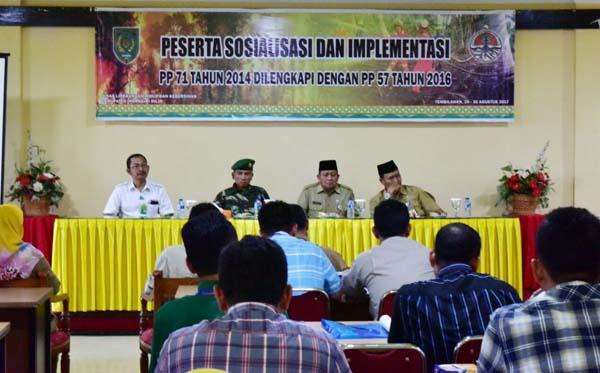 Pemkab Inhil Sosialisasi dan Implementasi PP PP NO. 71 Tahun 2014 yang Dilengkapi PP NO. 57 2016