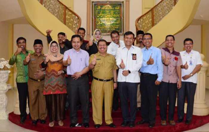 Sosialisasi Pilgub, KPU Riau Kunjungi Pemkab Bengkalis