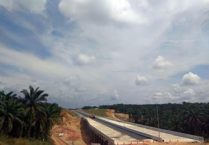 H Wan Thamrin Hasyim Puas Progres Tol Pekanbaru-Dumai Meningkat