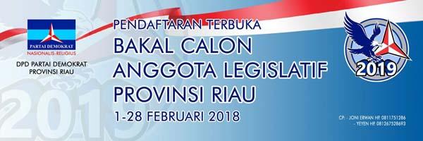 Partai Demokrat Riau Terima Pendaftaran Bacaleg