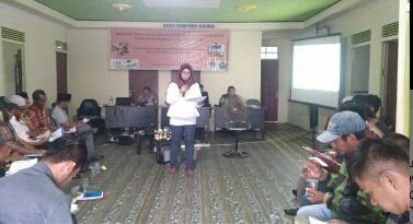 Perangkat Desa di Gaung Ikut Sosialisasi Program dan Pelatihan Penyusunan Proposal Perhutanan Sosial