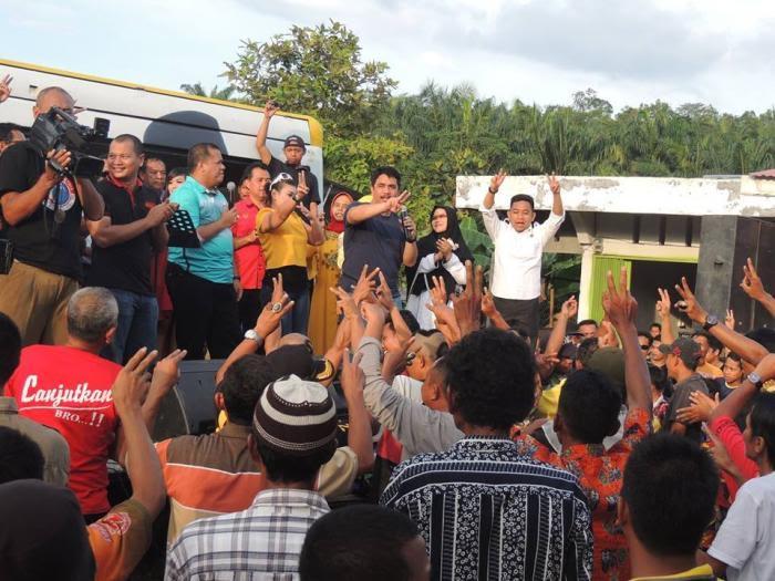 Mantan Bupati Ruchiyat Hadiri Kampanye Yopi-Khairizal