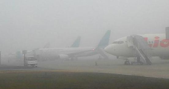Garuda Take off, Lion Delay