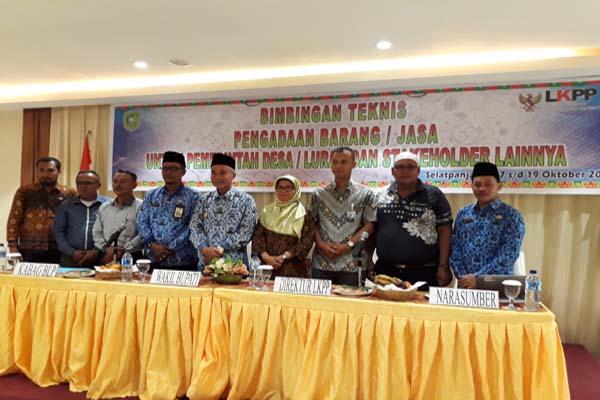 Pelatihan Bimbing Teknis Pengadaan Barang dan Jasa Bagi Desa Kabupaten Kepulauan Meranti