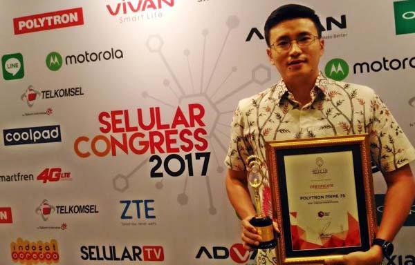 Prime 7S Raih Penghargaan Best Design Smartphone dari Selular