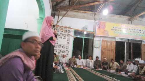 Safari Ramadhan, Septina Didoakan Jamaah Masjid Jadi Gubernur Riau