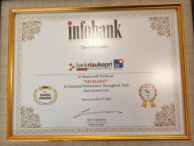 UUS BRK Raih Penghargaan Institusi Keuangan Syariah Excellent Versi Infobank 2019