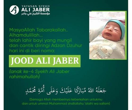 Istri Almarhum Syekh Ali Jaber Lahirkan Anak ke-4. Netizen Ramai Mendoakan