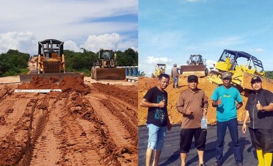 Kontraktor Pembangunan Jalan KIT Tetapkan Upah Jaga Alat Berat Cuma Rp 150 Ribuper Lokasi