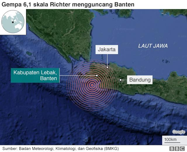 Gempa: Jakarta, Banten dan sekitarnya