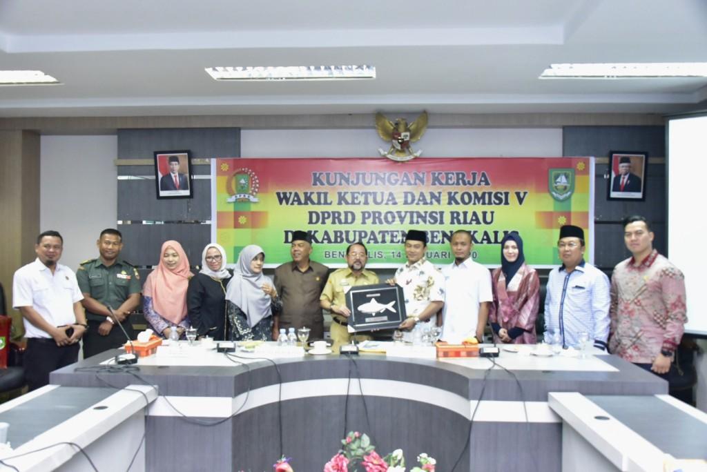 Bupati Bengkalis Terima Kunker Rombongan DPRD Provinsi Riau