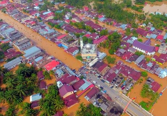 Ribuan Rumah Terendam Banjir di Rohul, BPBD Riau Kirim Bantuan