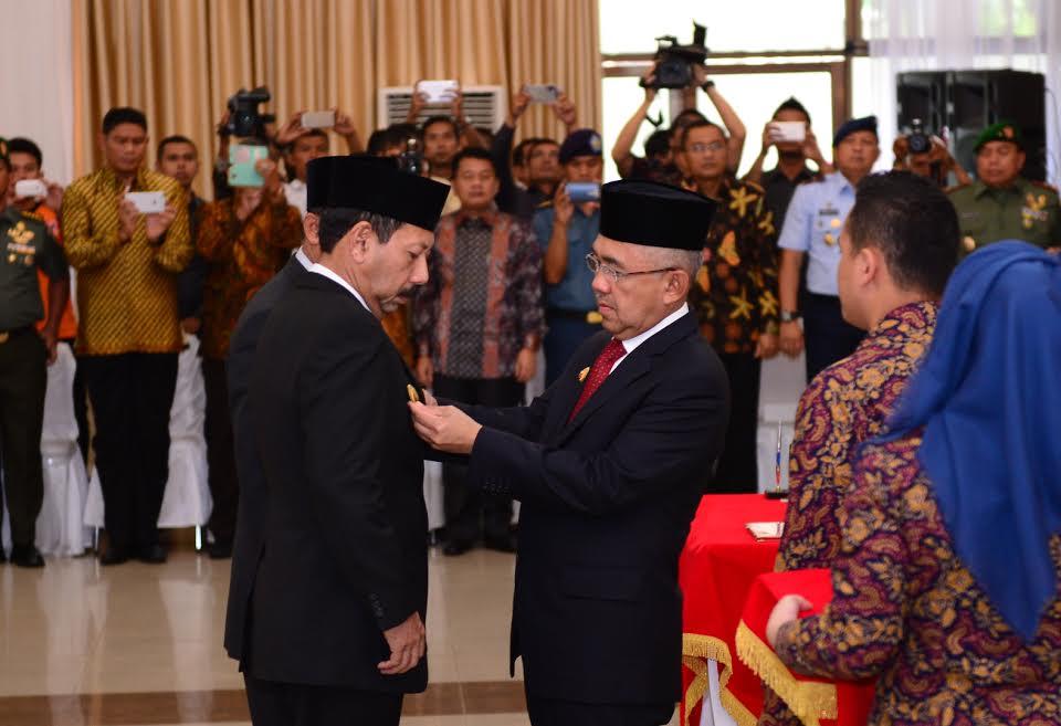 Gubri Resmikan Pelaksana Tugas Walikota Pekanbaru