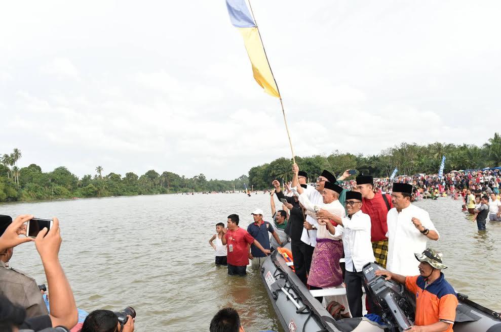 Gubri Hadiri Event Wisata Balimau Kasai di Desa Batu Belah Kab Kampar