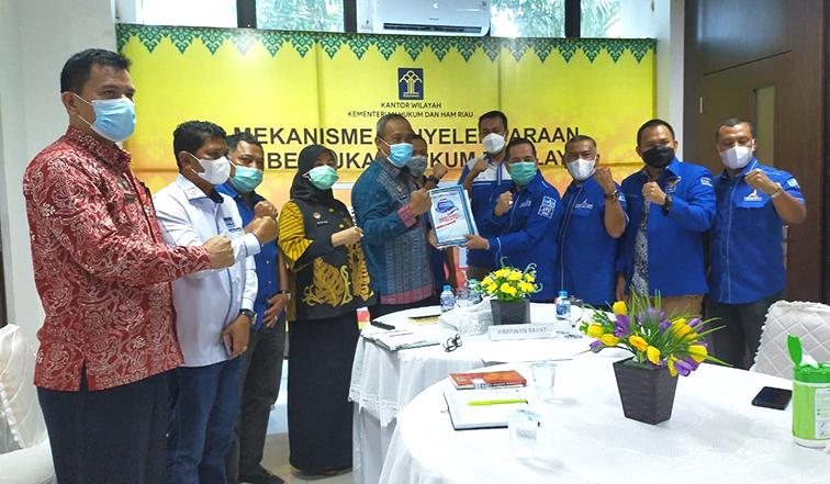 DPD Partai Demokrat Riau Sambangi Kanwil Kemenkum HAM Riau