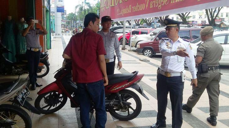 Dishub Lakukan Penertib di Pedestrian