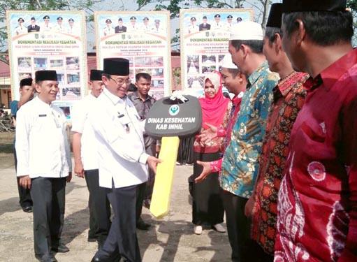 Bupati Inhil Resmikan Pelaksanaan Program Desa DMIJ Teluk Pinang