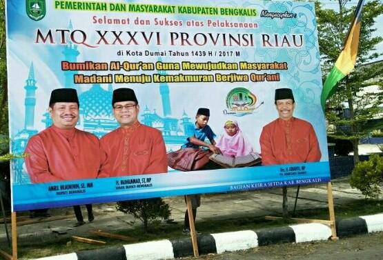 Bupati Bengkalis Bantah Pasang Baleho Nuansa Politik di MTQ Riau di Dumai