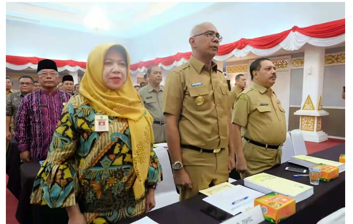Sejumlah Pejabat Pemkab Inhil Ikuti Rakor Bersama KPK