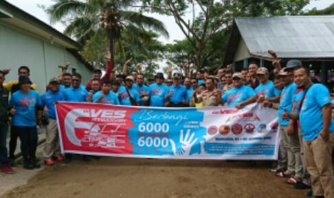Bupati Inhil Buka Kegiatan Bakti Sosial VES Community Chapter Bumi Lancang Kuning