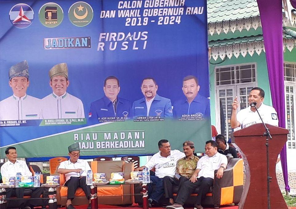 Ketua Demokrat Riau Asri Auzar Kenalkan Paslon Firli pada Kader