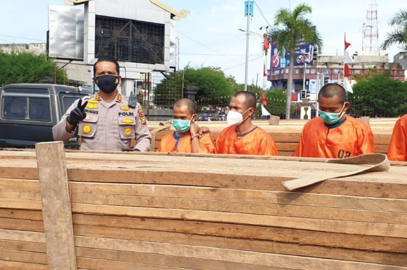 Polisi Tangkap Empat Pelaku Pembalakan Liar, Cukongnya Masih DPO