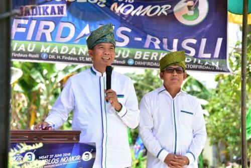Keprihatinan dan Kegelisahan Ini yang Bikin Firdaus - Rusli Berjanji akan Kerja Keras Membangun Riau