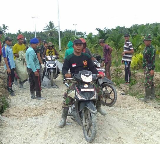 Warga Desa Kembang Sari Salut dan Apresiasi Satgas TMMD ke-101 Kodim 0314/Inhil