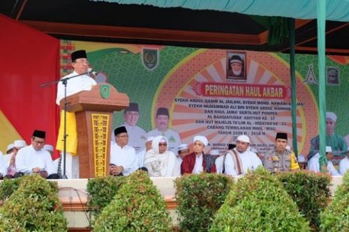 Haul Akbar Syekh Abdul Qadir Al - Jaelani, Bupati Inhil Bangga Dengan Antusiasme Masyarakat