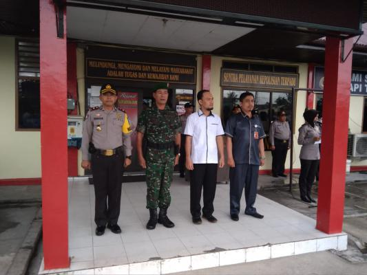 Polres Meranti Gelar Apel Pergeseran Pasukan Pengamanan TPS