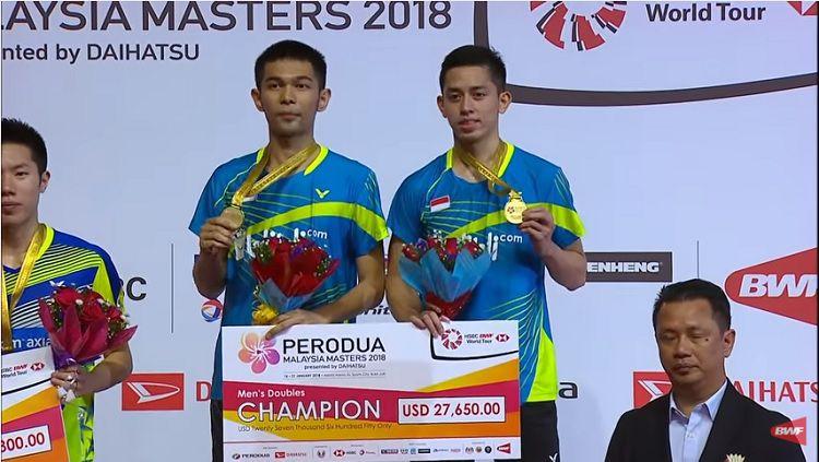 Fajar Alfian dan Muhammad Rian Ardianto meraih gelar juara