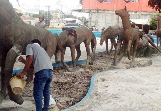 PUPR Revitalisasi Taman Patung Kuda