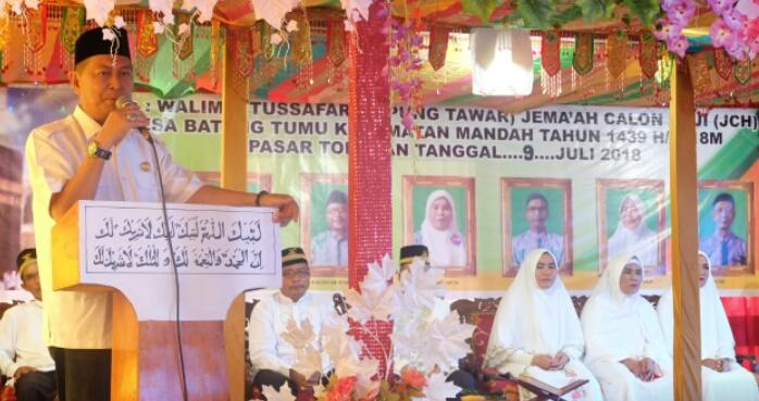 H Syamsuddin Uti Beri Arahan Jema'ah Calon Haji Desa Batang Tumu, Mandah