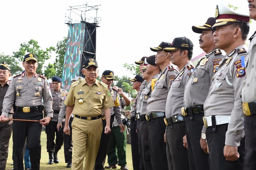 Gubri Pimpin Apel Operasi Ramadniya Siak 2017