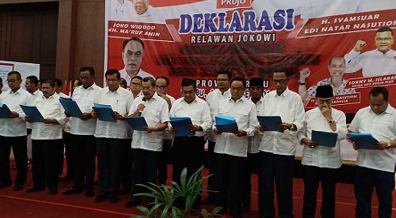 Kepala Daerah di Riau Deklarasi Dukung Jokowi-Ma'ruf Amin