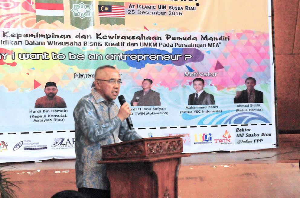Gubri Hadiri Seminar International Kampus UIN Suska