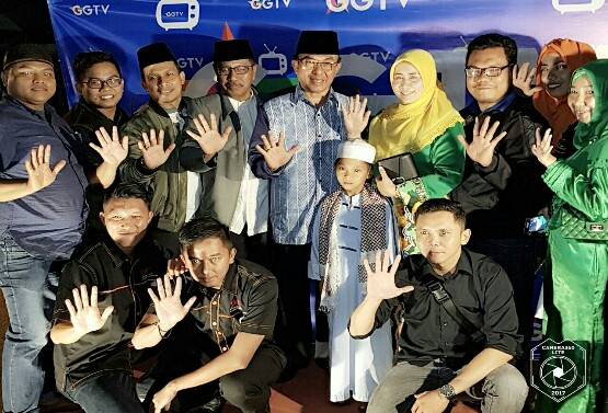 Bupati Inhil Hadiri Launching Gemilang Televisi ( GGTV )