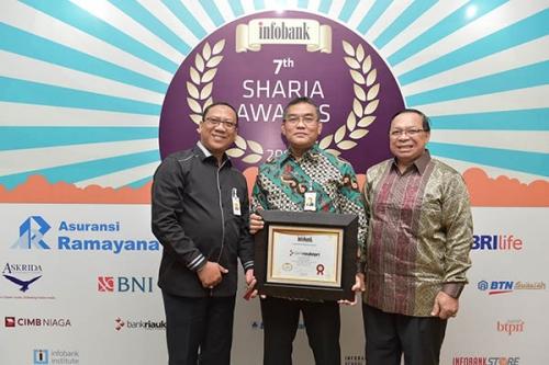 Unit Syariah Bank Riau Kepri Raih Predikat 'Sangat Bagus; Pada ajang Infobank Award 2018