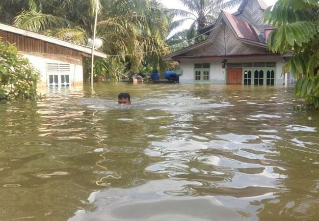 Banjir di Riau Meluas hingga 5 Kabupaten
