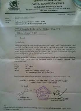 Pelaksanaan Musda Golkar DPD II di Pekanbaru Menyalahi Aturan