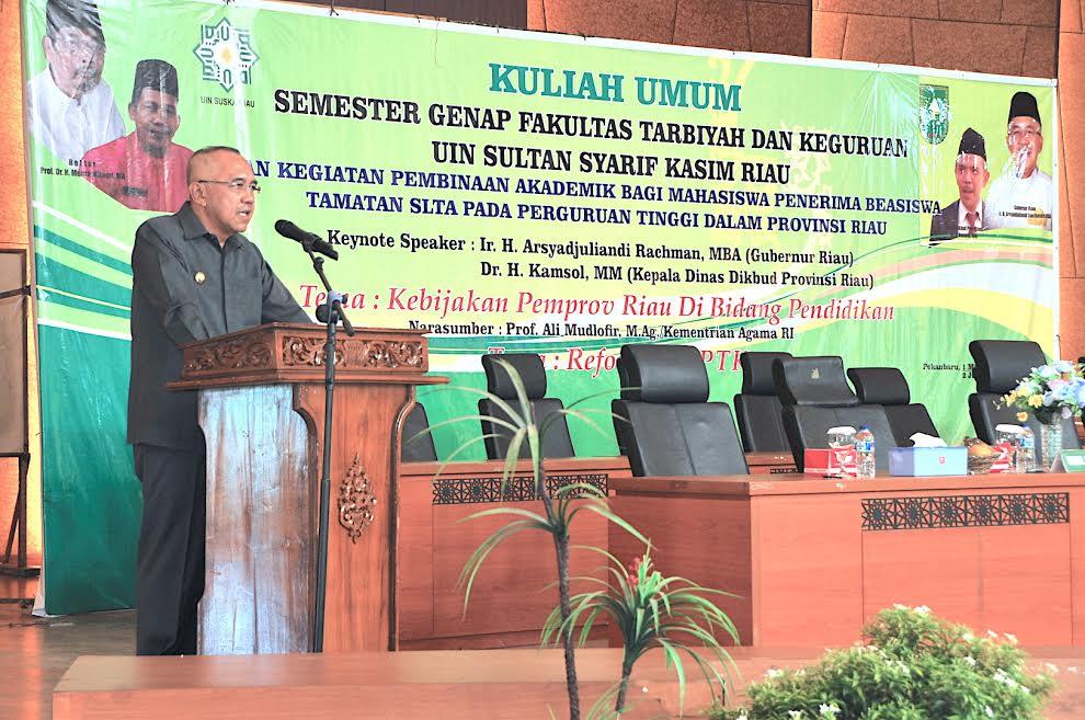 Gubri hadiri Kuliah Umum di UIN Suska Riau