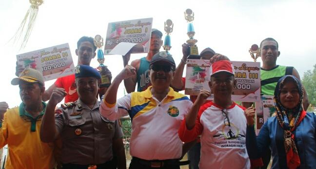 Plh Asisten 3 Bupati Inhil Tutup Festival Sampan Leper 2018