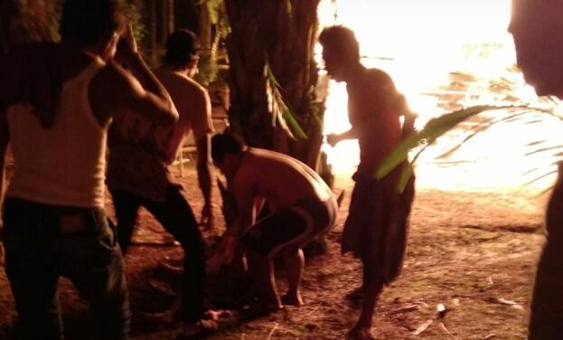 Kebakaran di Rumbai Jaya Inhil, Satu Unit Rumah dan Satu Orang Penghuni Jadi Korban