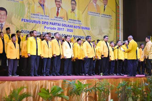 Andi Rachman Lantik Pengurus DPD I Partai Golkar Dumai 2017-2020